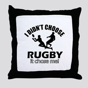 Rugby Choose Me Throw Pillow