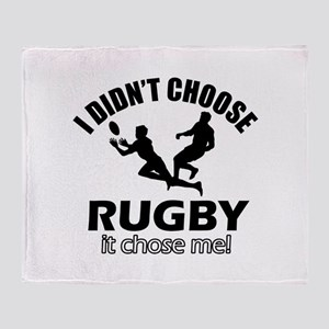 Rugby Choose Me Throw Blanket