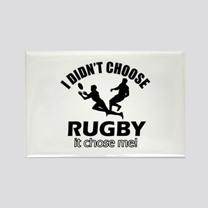 Rugby Choose Me Rectangle Magnet