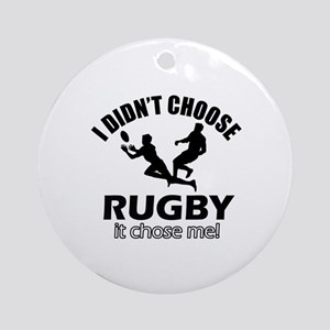 Rugby Choose Me Round Ornament