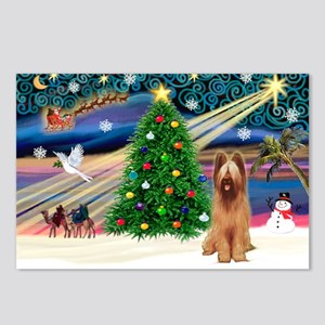 Xmas Magic & Briard Postcards (Package of 8)