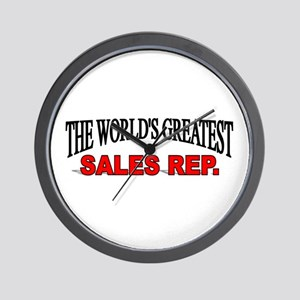 """""""The World's Greatest Sales Rep."""" Wall Clock"""