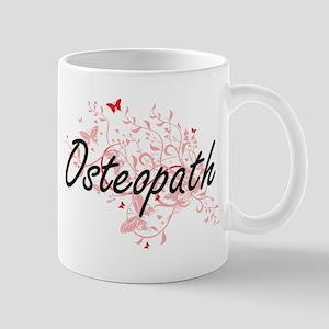 Osteopath Artistic Job Design with Butterflie Mugs