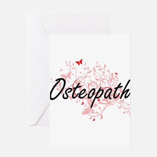 Osteopath Artistic Job Design with Greeting Cards