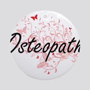 Osteopath Artistic Job Design with Round Ornament