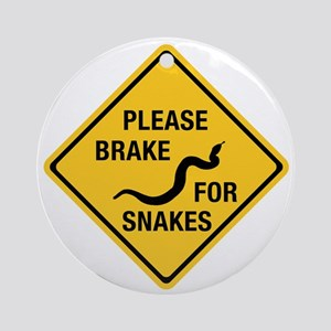 Please Brake For Snakes, Canada Ornament (Round)