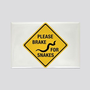 Please Brake For Snakes, Canada Rectangle Magnet
