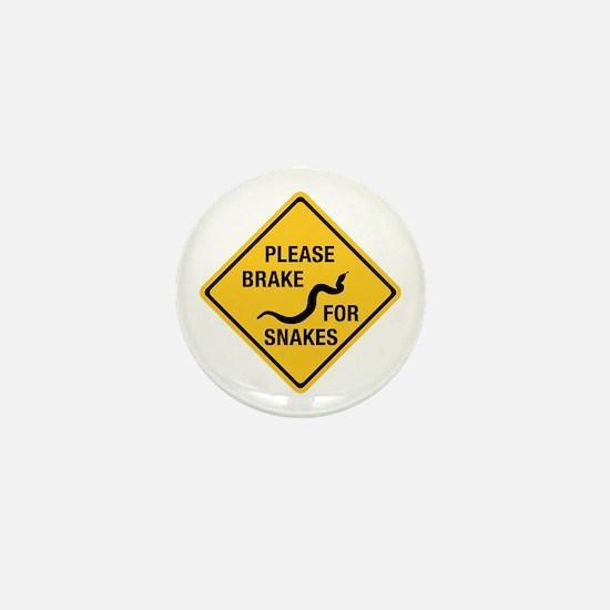 Please Brake For Snakes, Canada Mini Button