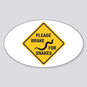Please Brake For Snakes, Canada Oval Sticker