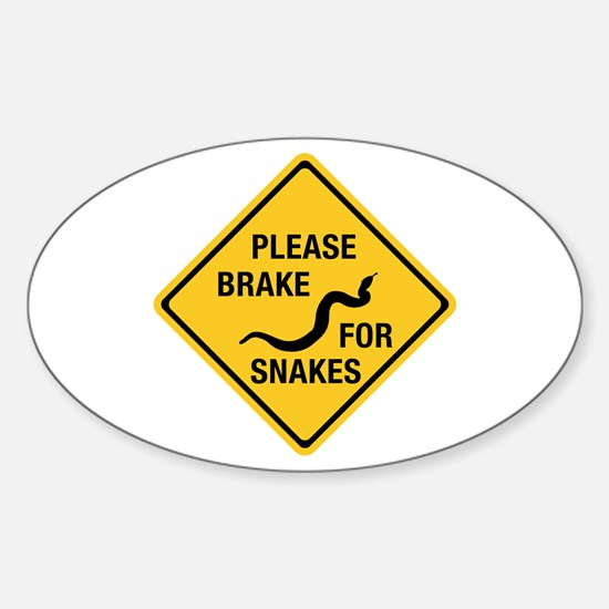 Please Brake For Snakes, Canada Oval Decal