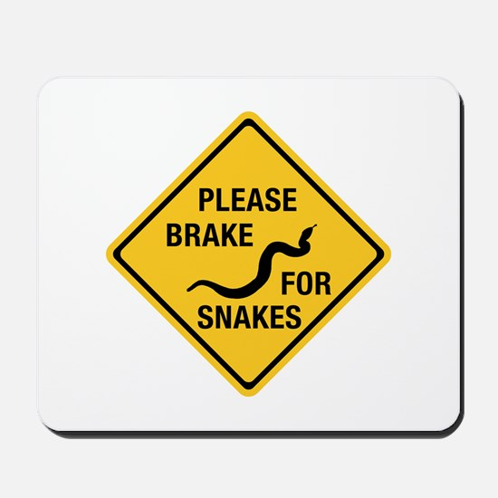 Please Brake For Snakes, Canada Mousepad