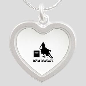 Barrel Racing Define Obsesse Silver Heart Necklace