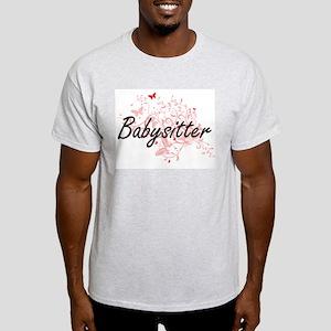 Babysitter Artistic Job Design with Butter T-Shirt