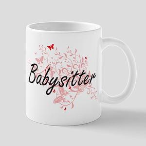 Babysitter Artistic Job Design with Butterfli Mugs