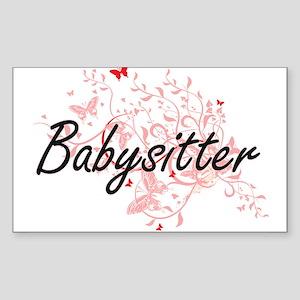 Babysitter Artistic Job Design with Butter Sticker