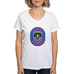 USS Sellers (DDG 11) Women's V-Neck T-Shirt