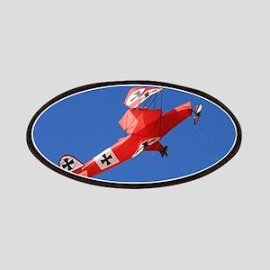 Red Baron biplane kite Patch