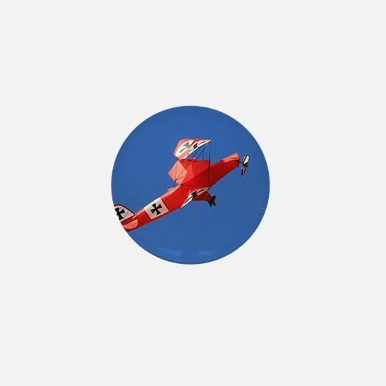 Red Baron biplane kite Mini Button