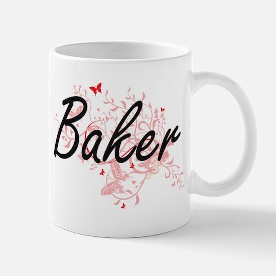 Baker Artistic Job Design with Butterflies Mugs