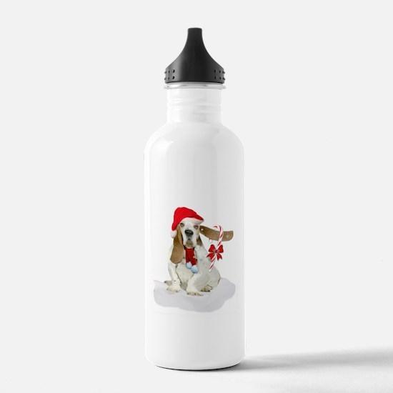 Basset Hound Christmas Fun Water Bottle