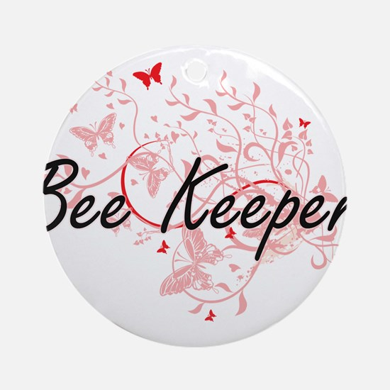 Bee Keeper Artistic Job Design with Round Ornament
