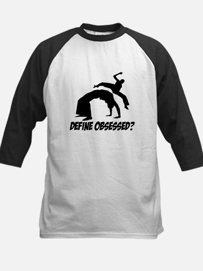 Capoeira Define Obsessed ? Kids Baseball Jersey