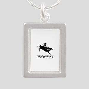 Bull Ride Define Obsesse Silver Portrait Necklace