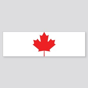 Red Maple Leaf Bumper Sticker