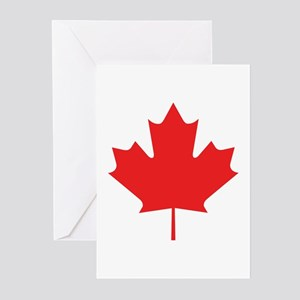 Red Maple Leaf Greeting Cards (Pk of 20)