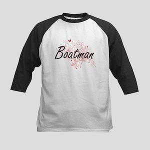 Boatman Artistic Job Design with B Baseball Jersey