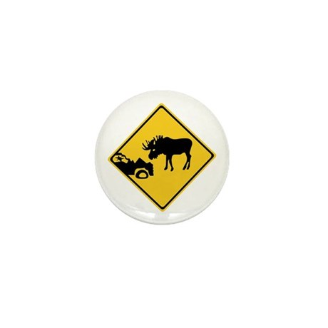 Beware of Moose, Canada Mini Button (10 pack)
