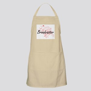 Broadcaster Artistic Job Design with Butterf Apron