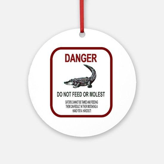 Gator Danger Ornament (Round)
