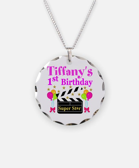 PERSONALIZED 1ST Necklace Circle Charm