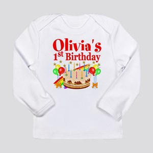 PERSONALIZED 1ST Long Sleeve Infant T-Shirt