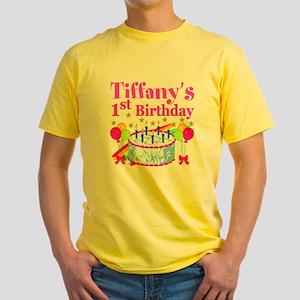 PERSONALIZED 1ST Yellow T-Shirt