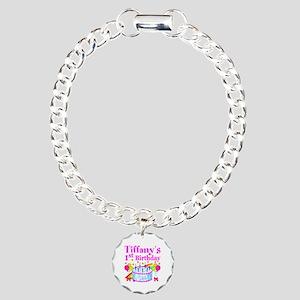 PERSONALIZED 1ST Charm Bracelet, One Charm