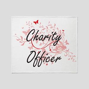 Charity Officer Artistic Job Design Throw Blanket