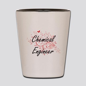 Chemical Engineer Artistic Job Design w Shot Glass