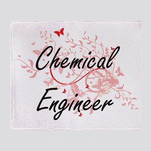 Chemical Engineer Artistic Job Desig Throw Blanket