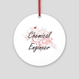 Chemical Engineer Artistic Job Desi Round Ornament