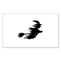 Flying Witch Rectangle Decal