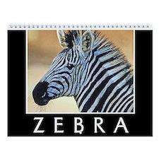 Zebra Wall Calendar