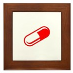 Red Pill Framed Tile