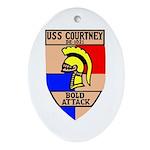USS Courtney (DE 1021) Oval Ornament