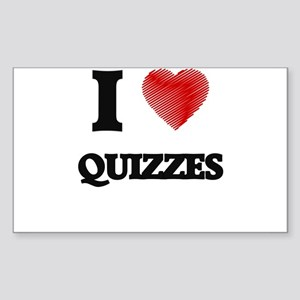 I Love Quizzes Sticker