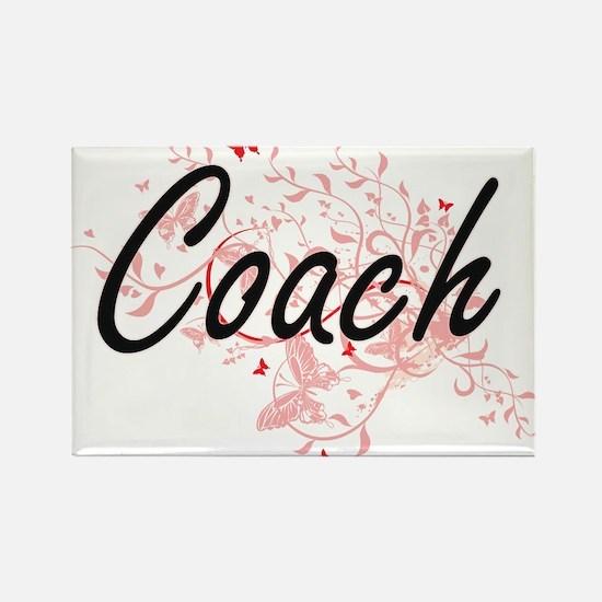 Coach Artistic Job Design with Butterflies Magnets