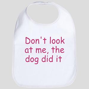 dog did it pink Bib