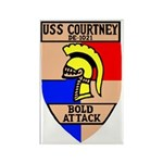 USS Courtney (DE 1021) Rectangle Magnet