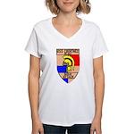 USS Courtney (DE 1021) Women's V-Neck T-Shirt